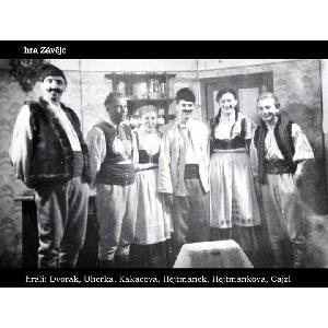 Historické fotky - ochotníci - Hra Závěje