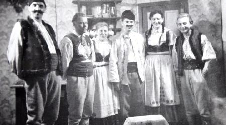 Historické fotky - ochotníci - Hra Závěje0